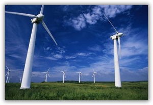 Un parco eolico, immagine di repertorio