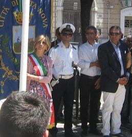 Il Consigliere Antonio Bellino a destra con il sindaco Calvio ed il consigliere De Finis (foto di Luca Caporale)