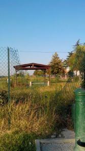 Una immagine scattata dalle Guarie Ambientali sulle condizioni in cui versa l'area di sgambamento