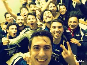 Il selfie dell'Herdonia dopo la goleada sul Troia, foto dal profilo Facebook