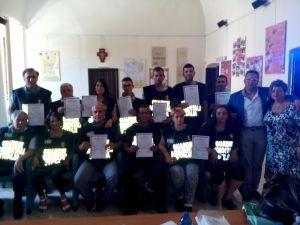 I volontari della GADIT con gli attestati di partecipazione