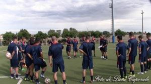 La Polisportiva Sporting Ordona al lavoro, foto di Luca Caporale