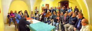 I militanti di Forza Italia all'interno del circolo ortese, foto dal profilo Facebook