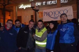 Il presidente della Pro Loco di Orta Nova Carlo Gaeta con alcuni volontari