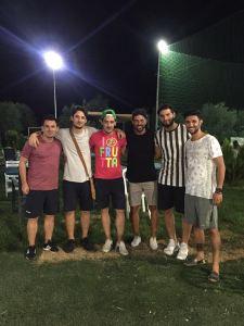 Il presidente Grieco con Lamanna, Caputo, Sacchitelli, Gervasio e il tecnico Iorio