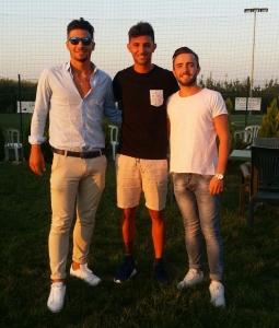 Rocco Mastropieri e Luca Zanni con il tecnico Leo Iorio